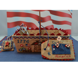 Patriotic Days Sewing Basket