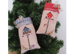 Christmas Birdhouse Ornaments